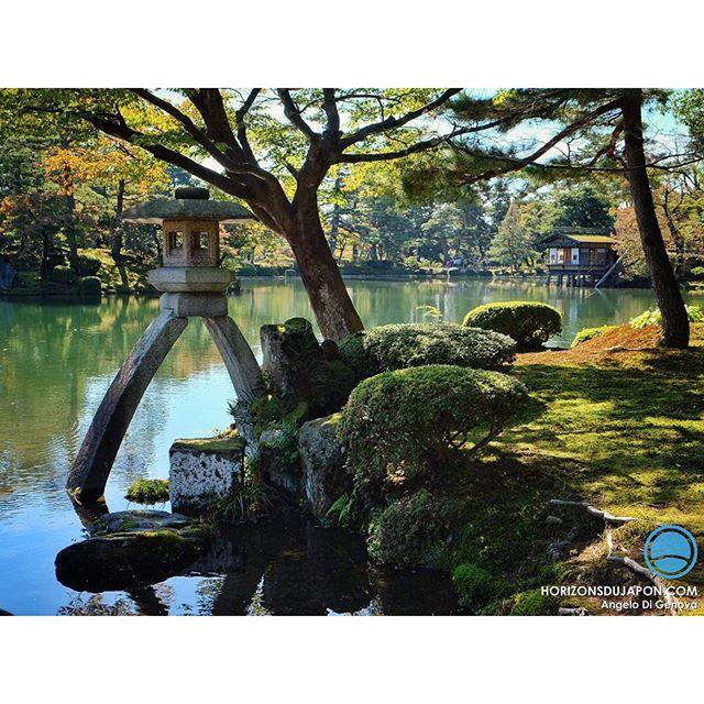 La fameuse lanterne du jardin kenrokuen de kanazawa for Jardin kenrokuen