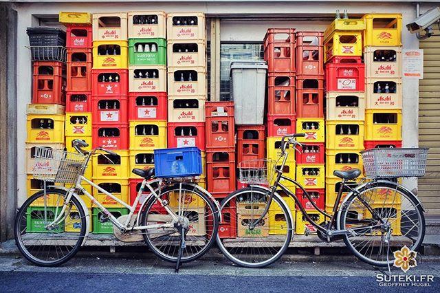 Le mur de bouteilles #japon #kyoto #kyotosafari