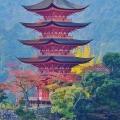 La pagode à 5 étages de Miyajima dans son écrin automnal 🍁