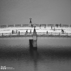 Le pont Motoyasu. Hiroshima. Hiver 2017