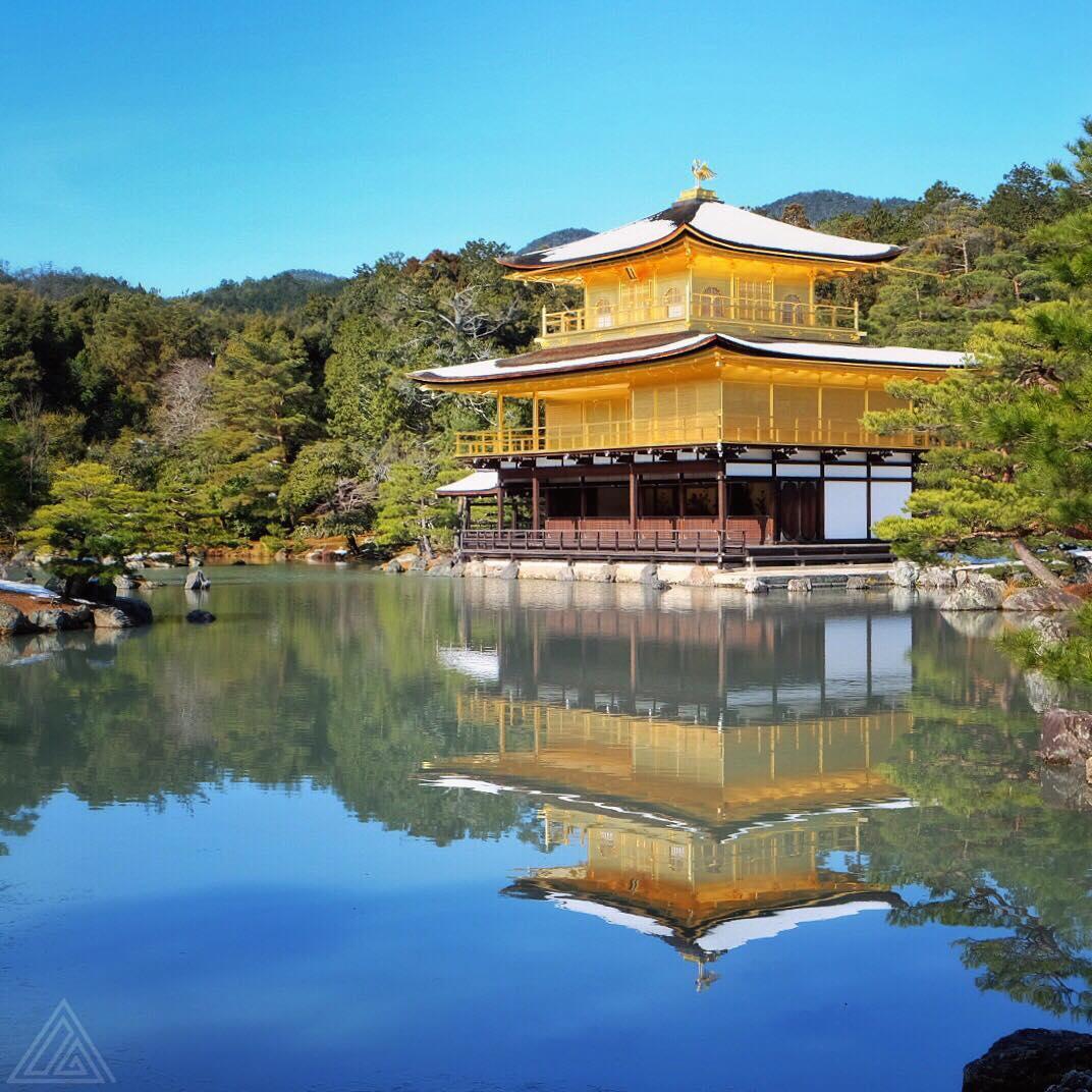Balade à Kyoto aujourd'hui avec un passage par le Pavillon d'or et sa fine couche de neige
