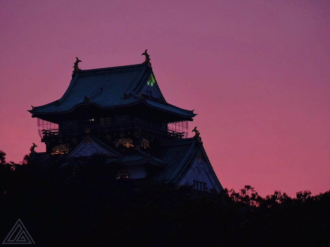 La silhouette du patron d'Osaka