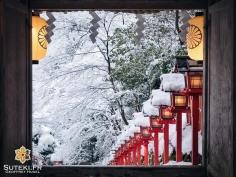 Fenêtre enneigée #japon #kyoto