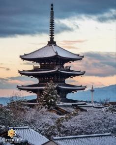 L'ancienne pagode face à la (pas si) nouvelle tour #japon #kyoto