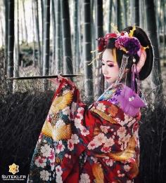En costume d'Oiran, les courtisanes de luxe #japon #kyoto #kyotosafari