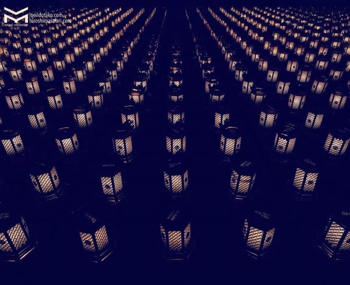 Un parterre de lanternes pour guider les âmes perdues.