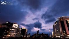 Le ciel d'Hiroshima juste avant l'okinomiyaki !
