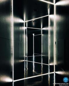 Le Design peut être partout à #Osaka. Même dans les couloirs des toilettes :) #japon #iphone 