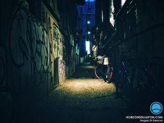 Dans la pénombre des villes japonaises