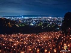 10.000 lanternes pour Obon #japon #kyoto