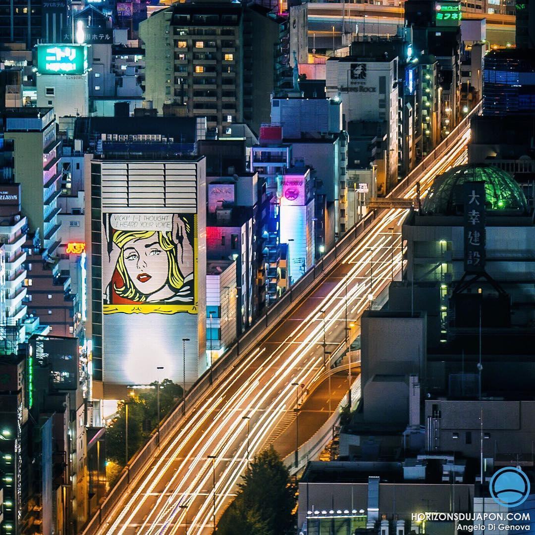 Quand le pop artiste Roy Lichtenstein s'invite aux portes du quartier branché d'Amemura  #Osaka #osakasafari #japonsafari