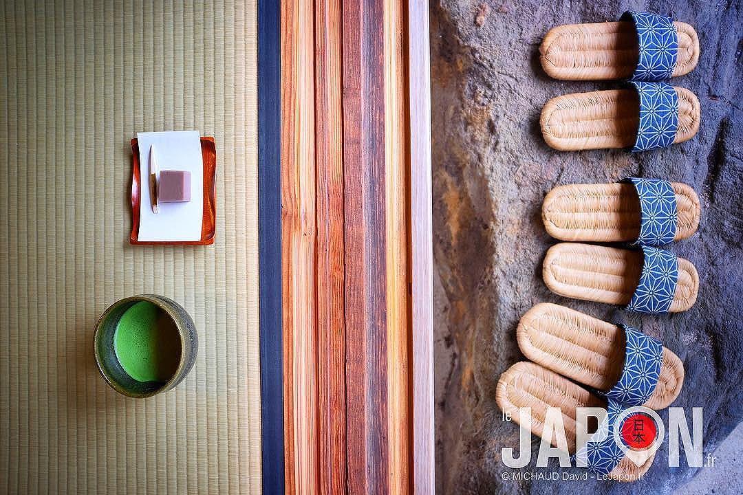 Un petit thé matcha pour bien commencer la journée au Adachi Museum of Art ?🍵🍃 #SaninAdventure #Adachi