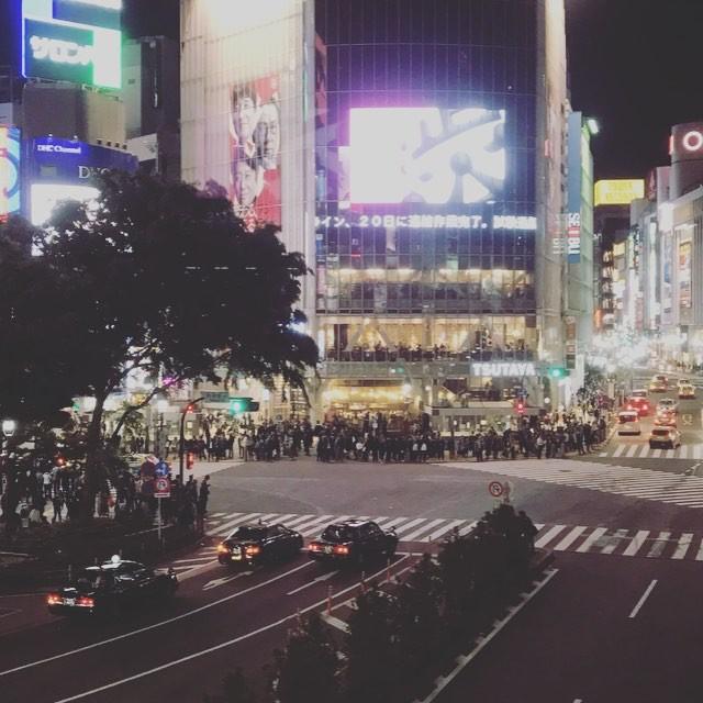 Shibuya by night ! #Shibuya #Tokyo