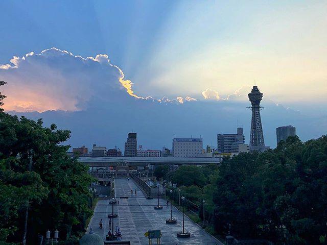 Encore un ciel sympa ce soir sur Osaka