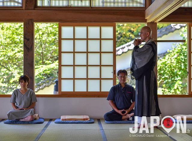 Méditation Zazen au temple Ichibata-ji ! Et le prêtre Iizuka veille au grain ! 😬😑🙏🏻 #izumo #izumoexperience