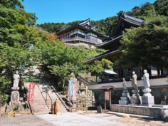 Le temple Ichibata-Yakushi, perché dans la montagne, permet de soigner la vue #izumo #izumoexperience