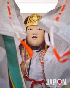 La princesse du Kagura (art théâtral japonais avec des masques) 😘👺 #Izumo #IzumoExperience