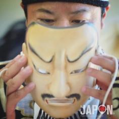 Quand l'acteur de Kagura fait tomber le masque… 😌👺 #Kagura #izumo #izumoexperience