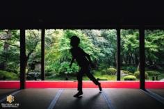 Avoir un beau décor c'est bien !  Savoir capturer un moment particulier c'est bien !  Pouvoir immortaliser les deux ensemble c'est encore mieux !  Je voulais intégrer quelqu'un à la composition, notamment en ombre chinoise, et j'avais bien remarqué cet enfant qui courait un peu partout… Et quand il est passé en plein milieu ! Je déclenche ! Pile au bon endroit, dans une bonne position, nickel ! . . . . . #kyotojapan #kyotogram #kyotolove #shadowphotography #japanesegarden #beautifulkyoto #ilovekyoto #fujifilmglobal #visitjapanjp #visitjapanfr #discoverjapan #discoverkyoto #そうだ京都行こう #京都 #京都旅 #京都好き #日本を休もう #京都カメラ部