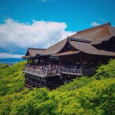 Kiyomizu Dera très saturé ! En couleur et en touristes ; ) #Japan #Japon #Kyoto