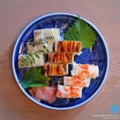 Hakozushi, le sushi traditionnel de la ville d'Osaka, préparé à l'aide d'un moule en bois de cyprès japonais