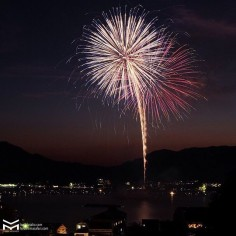 5ème année au Japon. Je fête toujours ça avec le feu d'artifice sur Miyajima.😁