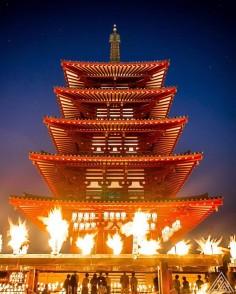 Manto Kuyo au temple Shitennoji