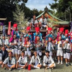 La photo de groupe du Matsuri d'automne de mon quartier