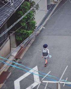 En rentrant de l'école