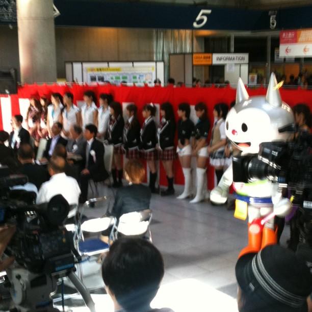 C'est des filles AKB48 à l'openning du Tokyo Game Show ?
