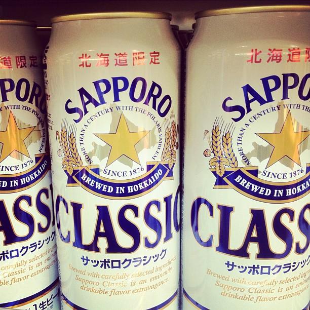 J'ai trouvé une boutique à Osaka qui vend cette bière exclusive d'Hokkaido #japan #japon #osaka #igersosaka #biere #sapporo #beer