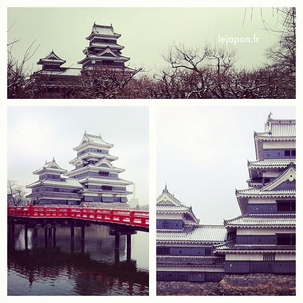 Je ne pouvais pas quitter Matsumoto sans faire un tour au château sous la neige !