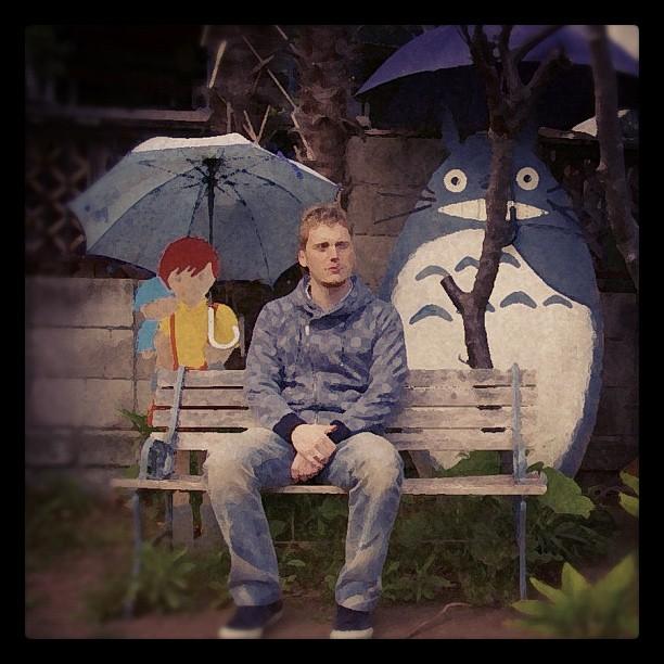 J'ai attendu le bus un jour avec Totoro !