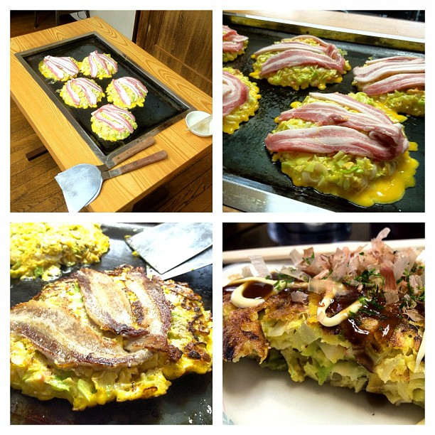 Osaka. Dimanche midi. Home Okonomiyaki Party !