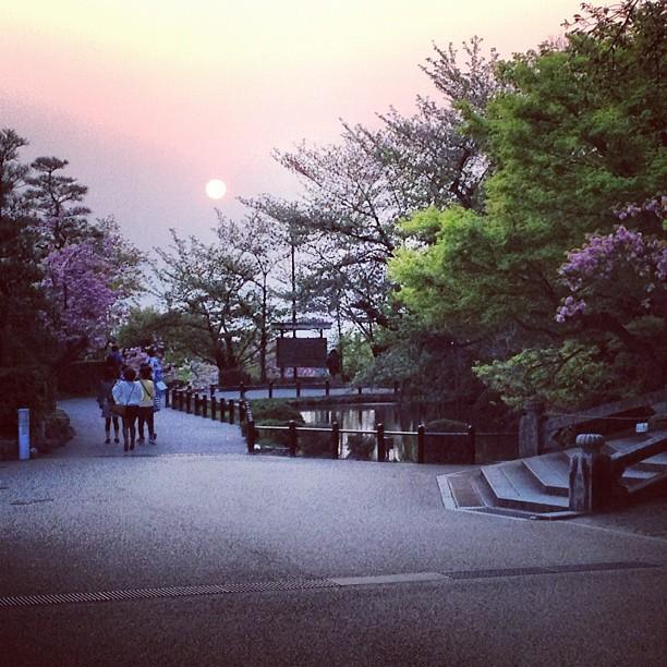 Soleil couchant sur Kyoto