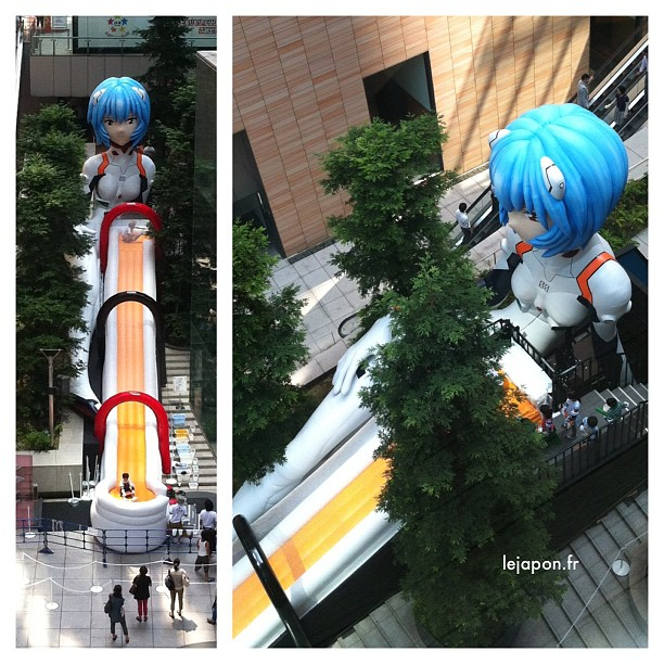 Toi aussi vient jouer sur une Rei Ayanami (Evangelion) géante gonflable !