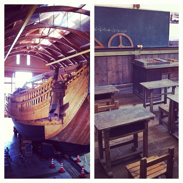 Sur le chemin entre Shukunegi et Ogi il y a le Sado-Koku Ogi Folk Museum… Sympa avec son bateau et l'ancienne école transformée en musée !