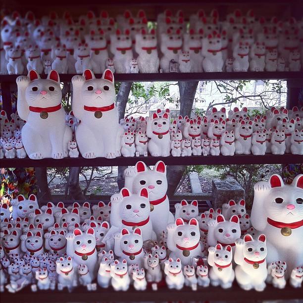 Le temple où sont nées les Maneki Neko