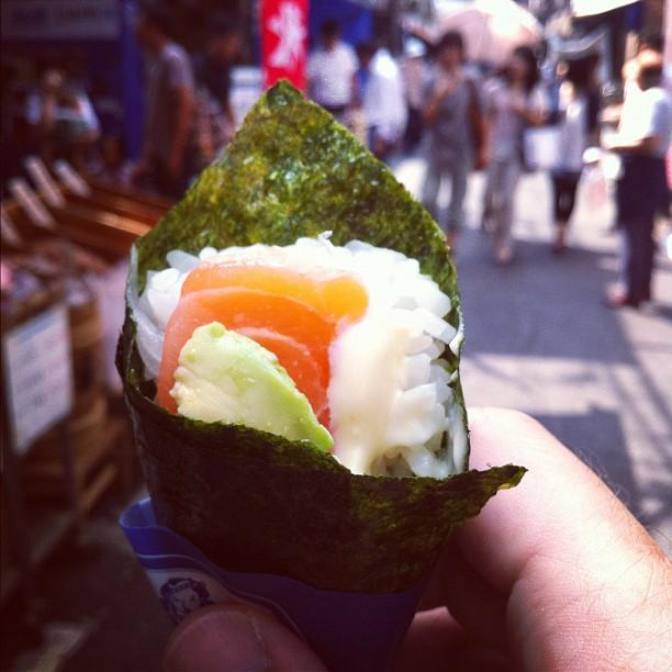 À Tsukiji les cornets ne sont pas de glace ! Quel est votre préféré ?