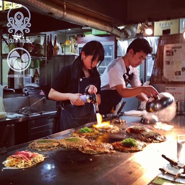 Un okonomiyaki fignolé par Takara-san ça n'a pas de prix :)