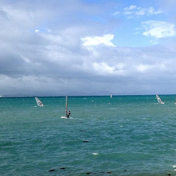 Le vent souffle au dessus de la mer d'Okinawa