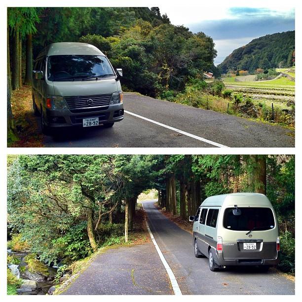 Le mini-van du voyage à travers les parcours que je concocte pour les clients