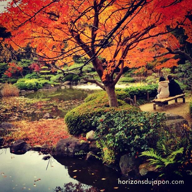 C'est l'automne aussi à Osaka. Le calme en plus :)