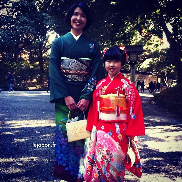 Ayumi chan et sa maman croisées au sanctuaire Meijijingu