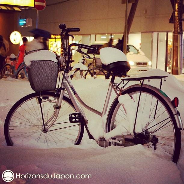 Voilà à quoi ressemblent les vélos l'hiver à Hokkaido
