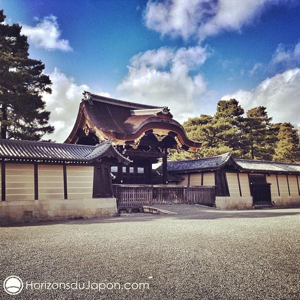 Une jolie porte du Palais Impérial de Kyoto