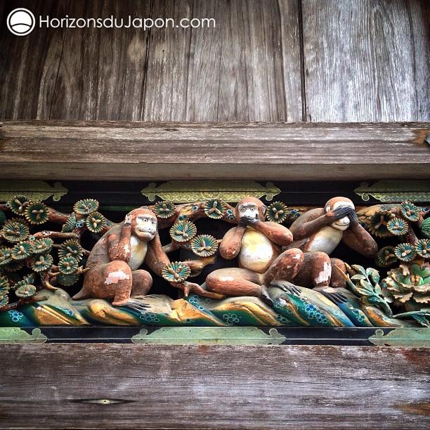 Les fameux singes de la sagesse