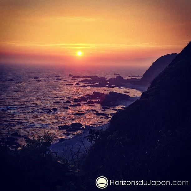 Coucher de soleil depuis Shionomisaki, le point le plus au sud de l'île d'Honshu