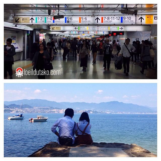 Au revoir Tokyo et sa marée humaine. Bonjour mon chez moi à Hiroshima / Miyajima !