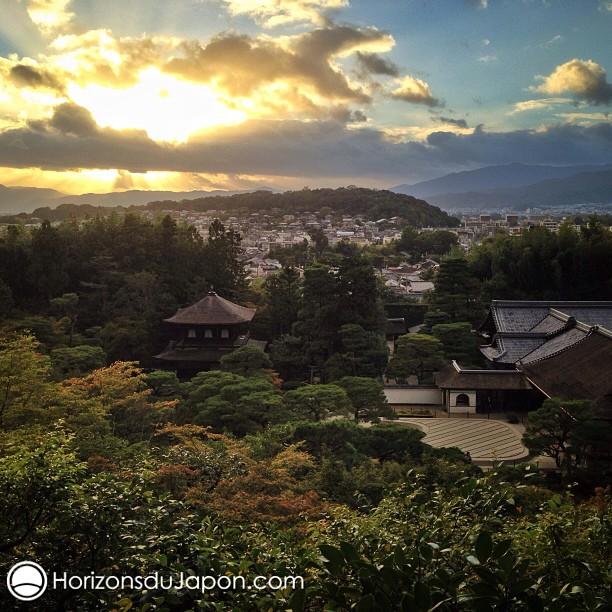 J'aime bien terminer la journée sur Kyoto depuis ce point de vue